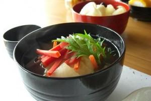 雑煮に水菜