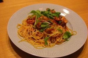 ルッコラ入りのスパゲッティ